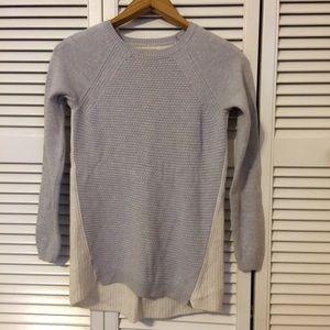 LOFT Lavender and Cream Blocked Sweater